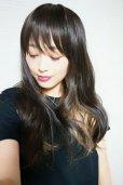 画像19: 幅広つむじ☆インナーカラー☆大人ヴェールウェーブロング【002R×ゴールド】