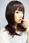 画像12: シースルーバング☆小顔レイヤーミディ【002R(幅広つむじ)&ダークチェリ-】
