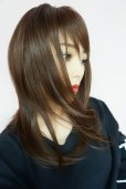 画像12: ≪廃盤完売商品≫OUTLET☆ぱっつん前髪☆レイヤーミディ【マロンブラウン】