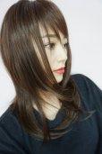 画像2: ≪廃盤完売商品≫OUTLET☆ぱっつん前髪☆レイヤーミディ【マロンブラウン】 (2)