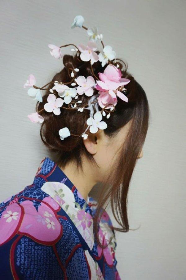 画像4: 和装梅花風髪飾り✩クリップタイプ