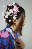 画像2: 和装梅花風髪飾り✩クリップタイプ (2)