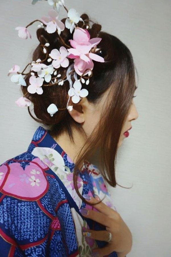 画像2: 和装梅花風髪飾り✩クリップタイプ