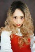 画像8: ふかし加工-ウェットシリーズ☆モードロングパーマ【根本黒染めカスタードバニラ】