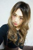画像18: ふかし加工-ウェットシリーズ☆モードロングパーマ【根本黒染めモカベージュ】