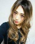 画像20: ふかし加工-ウェットシリーズ☆モードロングパーマ【根本黒染めモカベージュ】