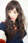 画像15: Ssize☆幅広つむじ☆ベビーバング✩ゆるなみウェーブロング【ダークチェリー】