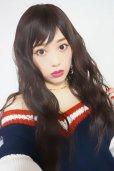 画像8: Ssize☆幅広つむじ☆ベビーバング✩ゆるなみウェーブロング【ダークチェリー】