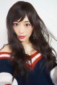 画像2: Ssize☆幅広つむじ☆ベビーバング✩ゆるなみウェーブロング【ダークチェリー】   (2)