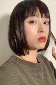 画像6: ぱっつん前髪☆シンプルベーシックボブ【ダークチェリー】