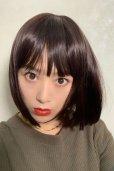 画像3: ぱっつん前髪☆シンプルベーシックボブ【ダークチェリー】