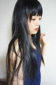画像18: 《Sサイズ展開有》 幅広つむじ☆ぱっつん前髪ブラントカットストレートロング【ブラック】