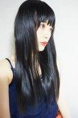 画像19: 《Sサイズ展開有》 幅広つむじ☆ぱっつん前髪ブラントカットストレートロング【ブラック】