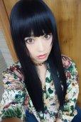 画像7: 《Sサイズ展開有》 幅広つむじ☆ぱっつん前髪ブラントカットストレートロング【ブラック】