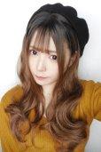 画像12: front lace wig☆シースルーエアリーバングウォームウェーブロング【根元黒染め×ショコラベージュ】