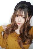 画像15: front lace wig☆シースルーエアリーバングウォームウェーブロング【根元黒染め×ショコラベージュ】