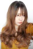 画像8: front lace wig☆シースルーエアリーバングウォームウェーブロング【根元黒染め×ショコラベージュ】