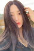 画像19: front lace wig☆センターパート☆ワンレンストレートロング【ナチュラルブラウンブラック】