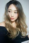画像15: front lace wig☆ジェンダーレスウェーブロング【根元黒染め×シナモンベージュグラデ】