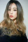 画像16: front lace wig☆ジェンダーレスウェーブロング【根元黒染め×シナモンベージュグラデ】