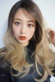 画像10: front lace wig☆ジェンダーレスウェーブロング【根元黒染め×アッシュゴールドグラデ】