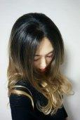 画像7: front lace wig☆ジェンダーレスウェーブロング【根元黒染め×シナモンベージュグラデ】