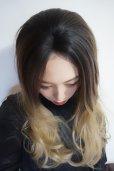 画像6: front lace wig☆ジェンダーレスウェーブロング【根元黒染め×アッシュゴールドグラデ】