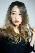 画像13: front lace wig☆ジェンダーレスウェーブロング【根元黒染め×シナモンベージュグラデ】