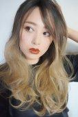 画像4: front lace wig☆ジェンダーレスウェーブロング【根元黒染め×アッシュゴールドグラデ】