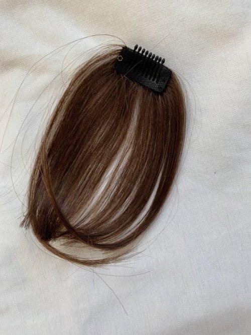 他の写真1: 人毛・サイド付薄め前髪ウィッグ【全3色】