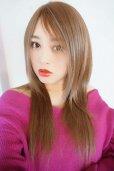 画像15: 人毛mix☆リアルスキン☆総レースストレートロング【ヌーディベージュ】