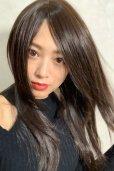 画像2: 人毛mix☆リアルスキン☆総レースストレートロング【チョコブラック】 (2)
