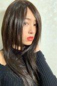 画像7: 人毛mix☆リアルスキン☆総レースストレートロング【チョコブラック】