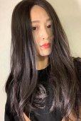 画像5: front lace wig☆センターパート☆ワンレンストレートロング【ナチュラルブラウンブラック】