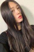 画像6: front lace wig☆センターパート☆ワンレンストレートロング【ナチュラルブラウンブラック】