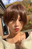 画像5: 【試着】人毛mix☆リアルスキン☆総レース大人ショート【ピュアショコラ】