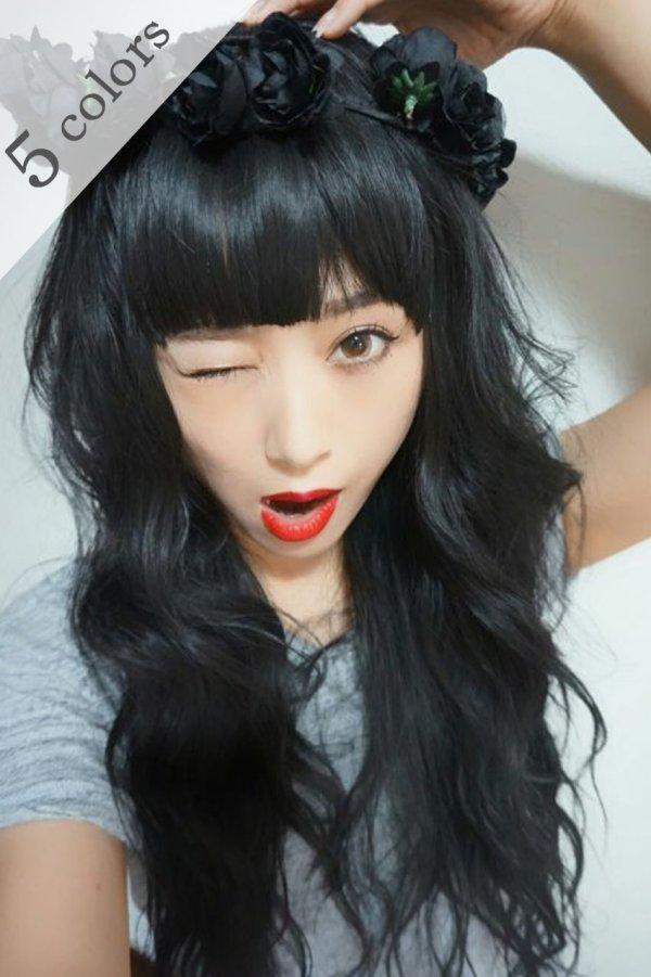 画像1: ぱっつん前髪wig【全5色】
