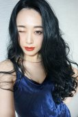 画像7: front lace wig☆マーメイドウェーブロング【ブラック】