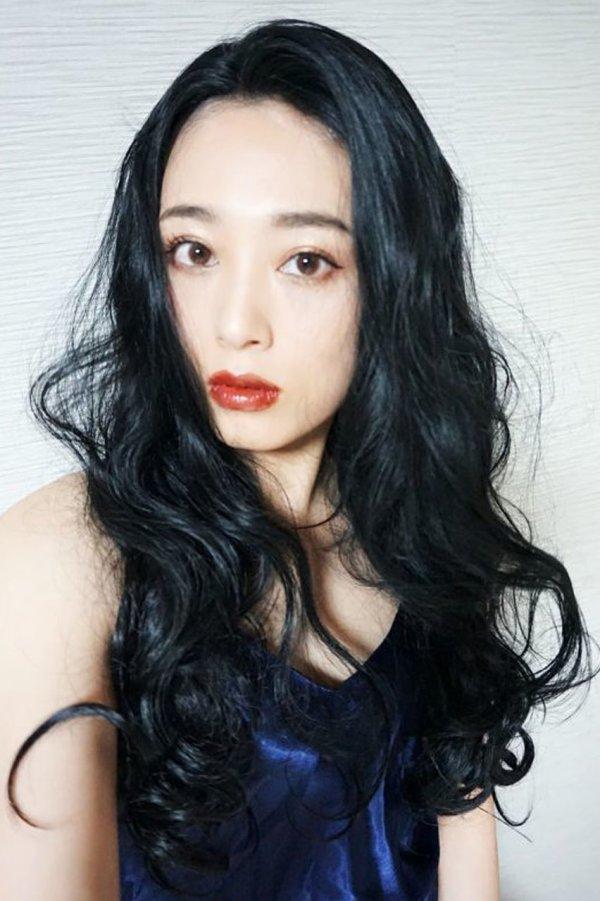 画像2: front lace wig☆マーメイドウェーブロング【ブラック】