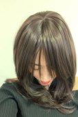 画像5: 幅広*型つむじ☆斜め分けフェミニンマッシュレイヤーミディ【ダークチェリー】